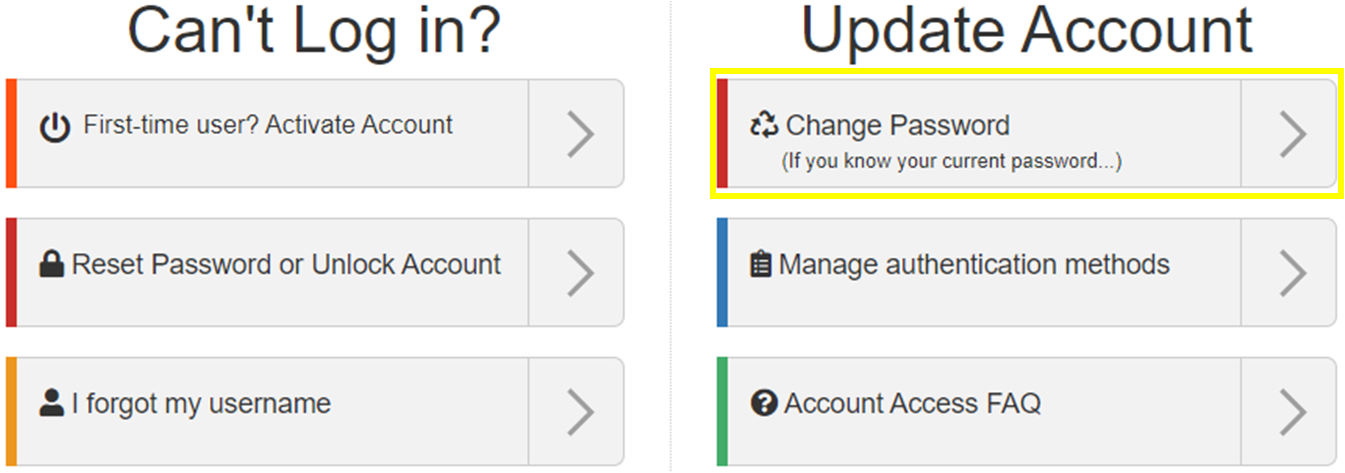 image of Change my password option