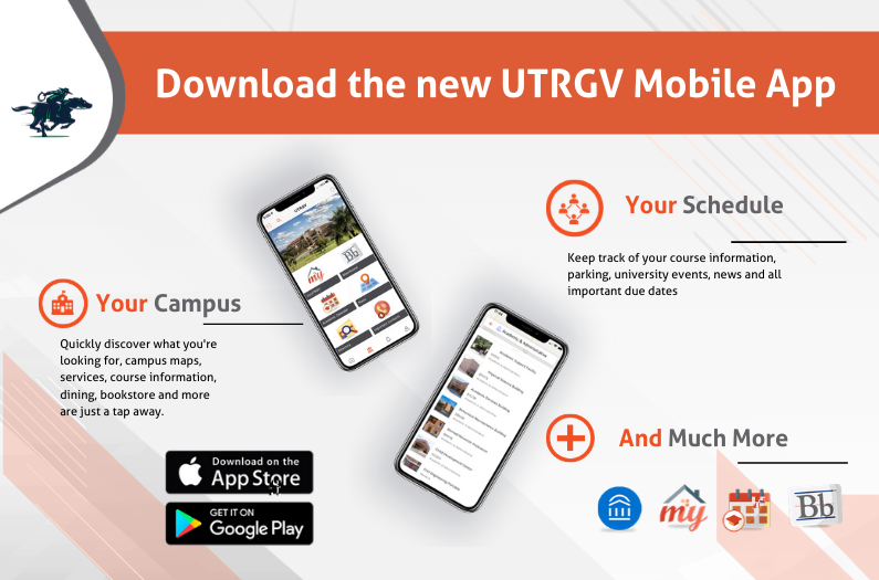 image advertising features of the UTRGV Mobile App
