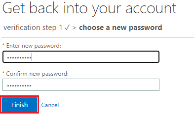 Image of prompt to enter a new password
